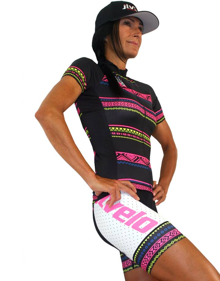 Women's SDP Bibshorts : Tribal Collection : White