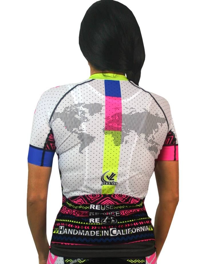 Women's SDP Jersey : Tribal Collection : White