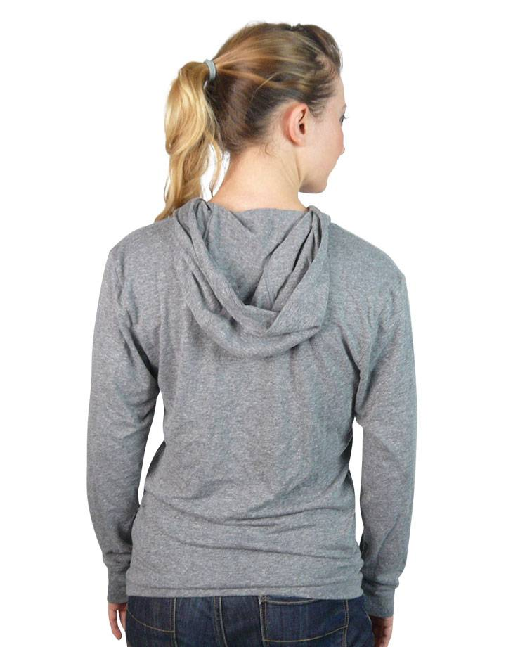 Flag Hoodie Tee : Heather Grey
