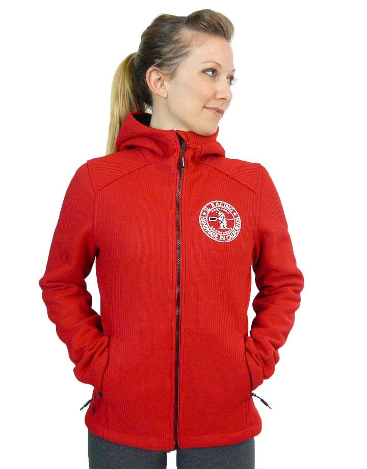 Women's Nordic Bonded Knit Jacket : Red