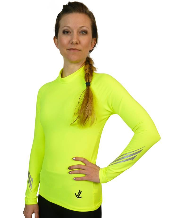 Long Sleeve Drywick Tech shirt :  Hi-Viz