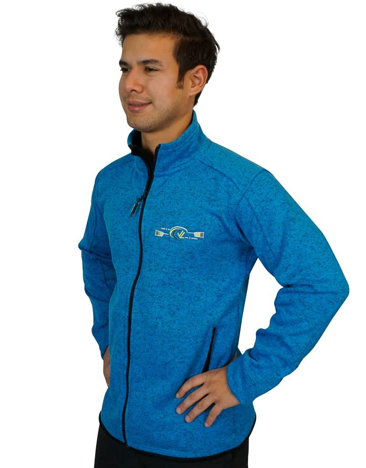 Men's Donegal Full Zip Jacket : Blue Heather