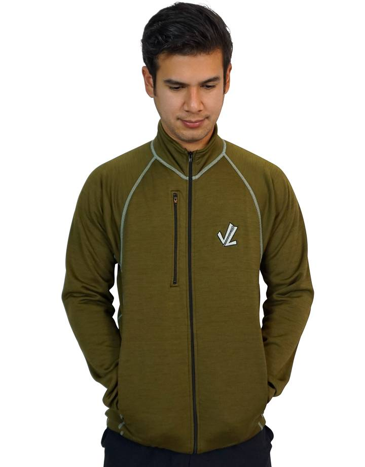 Pocketed Podium Jacket : Military  Green