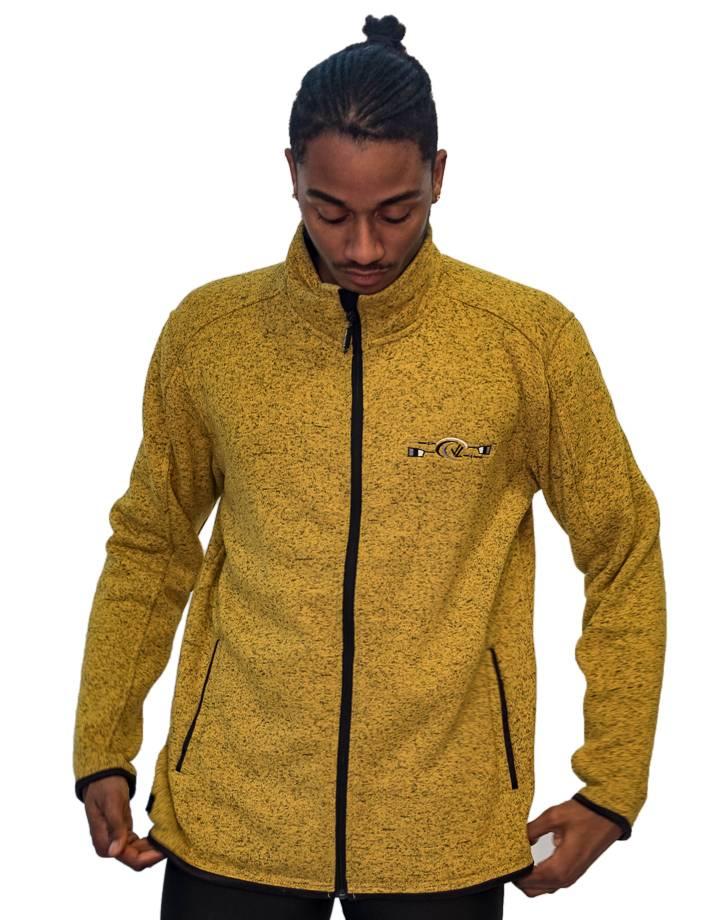 Men's Donegal Full Zip Jacket : Golden Heather