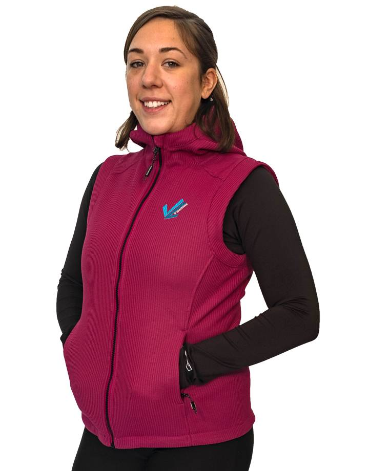 Women's Nordic Bonded Knit Vest : Wildberry