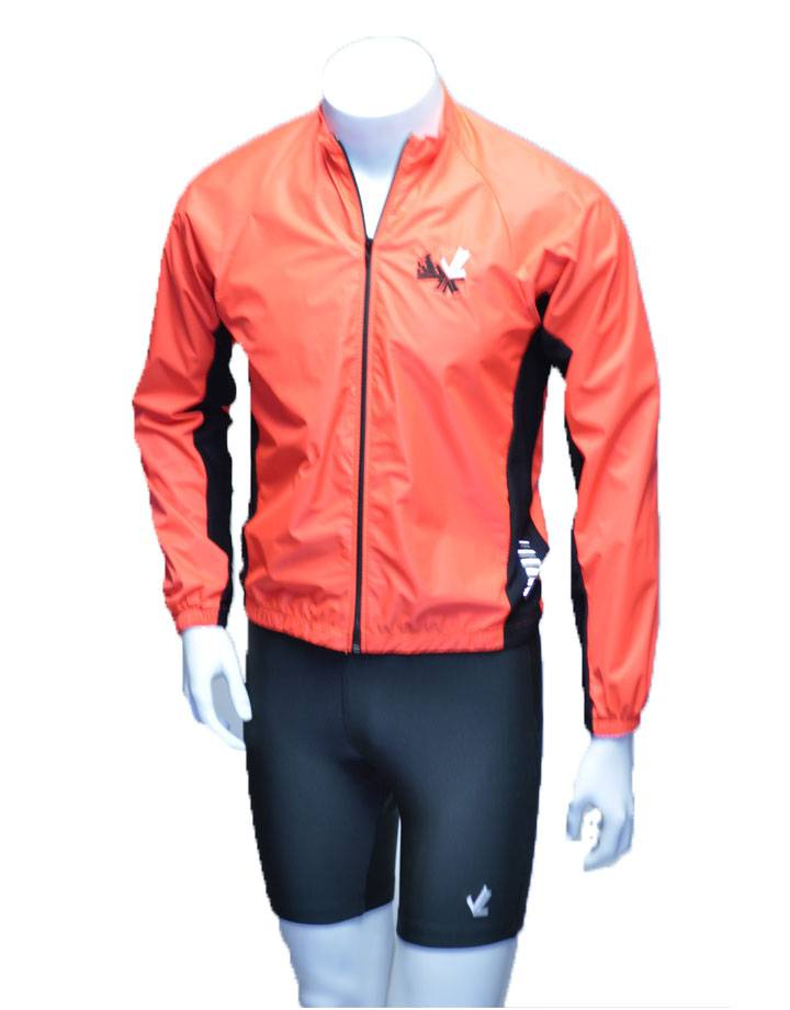 Full Zip Wind Jacket : Orange