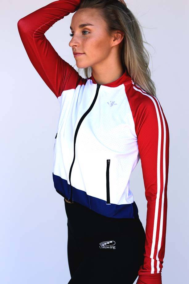 USR Women's Mesh Crop Jacket White