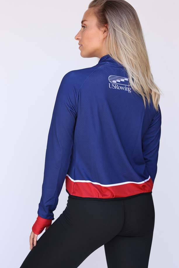 USR Women's Mesh Crop Jacket Navy