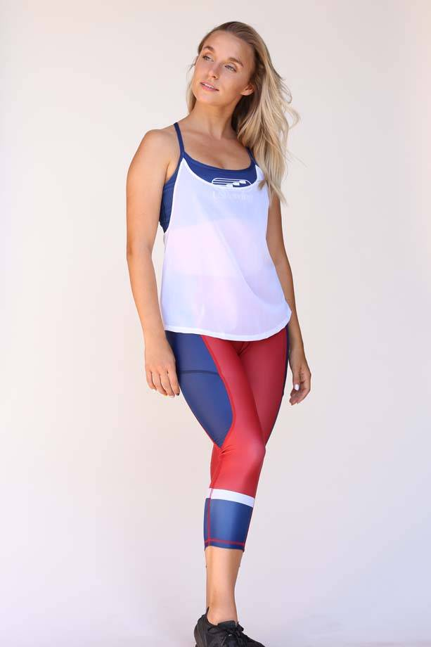 USR Women's Capri Red/Blue