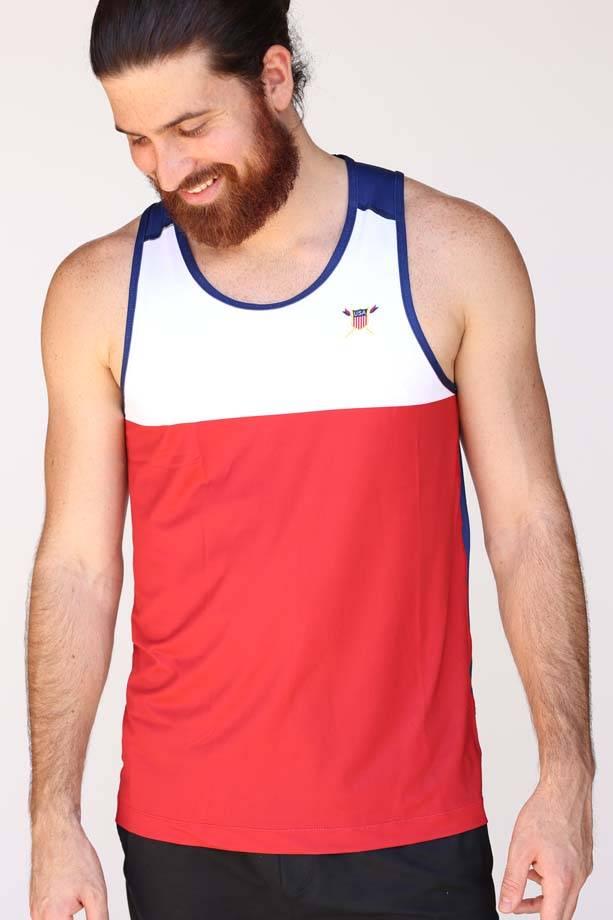 USR Men's Performance Singlet Red/White/Blue