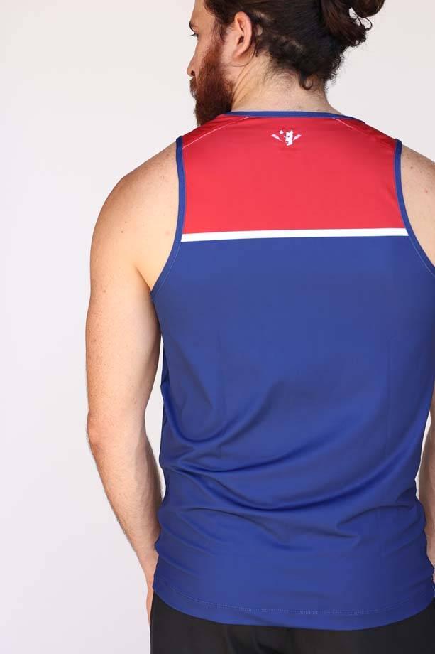 USR Men's Performance Singlet Crest/Stripe