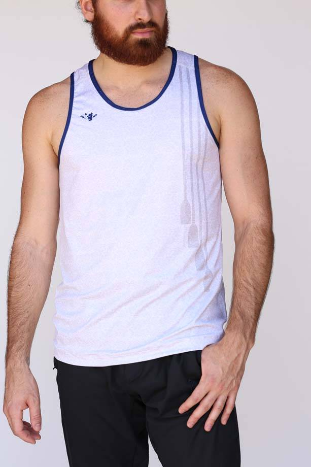 USR Men's Performance Singlet Grey Oars
