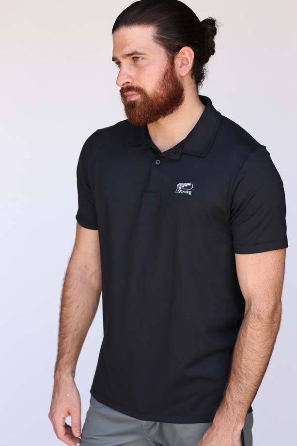 USR Men's Performance Polo Black