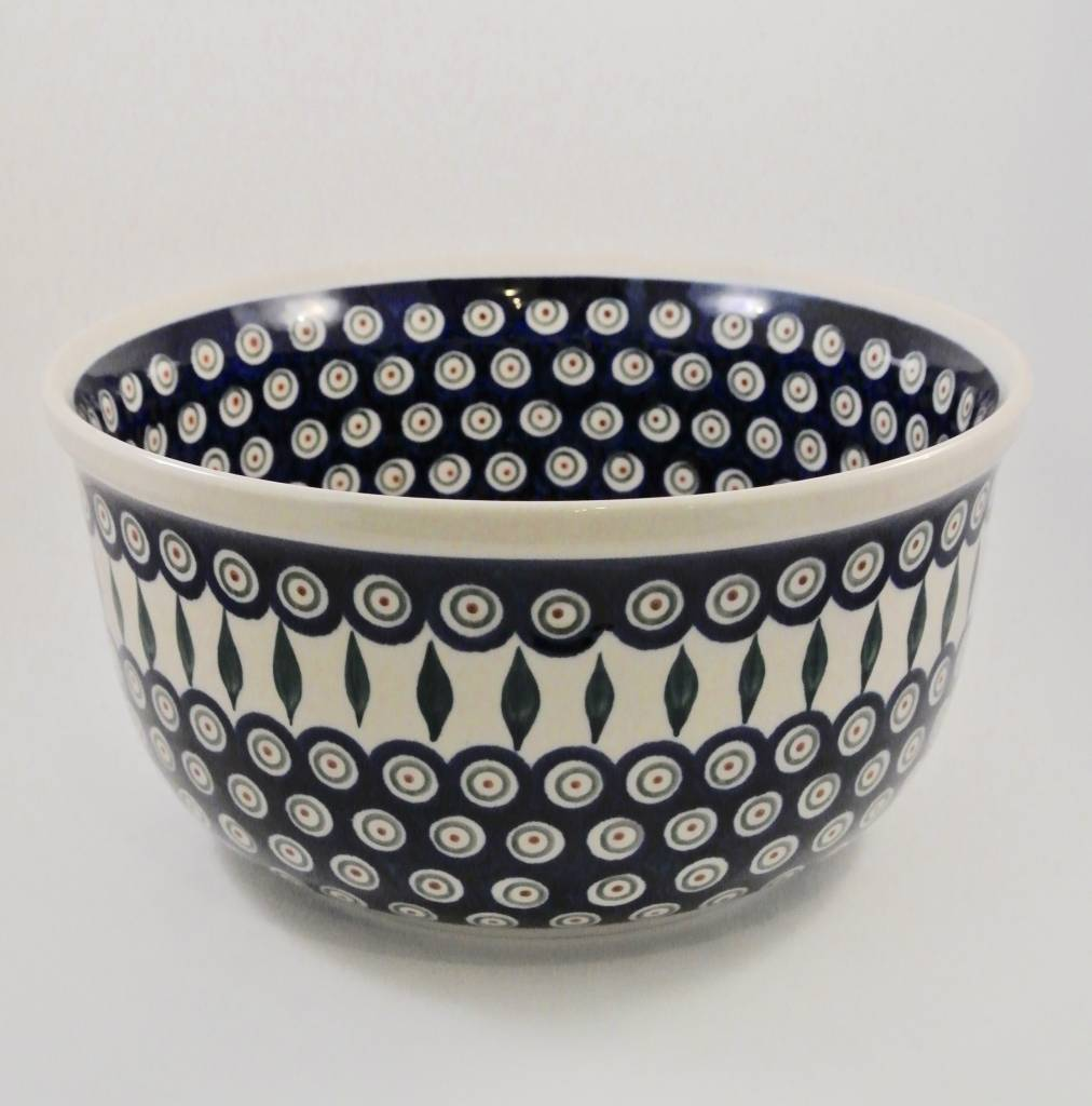 Large Serving Bowl - Peacock Pattern