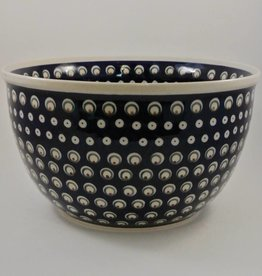 Large Serving Bowl - Blue/Green Dots