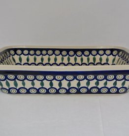 Casserole Large - Peacock Pattern