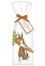 Rabbit w/Carrot Towel Set - 2 pk