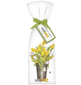 Yellow & White Tulips Towel Set