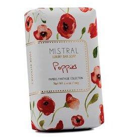 Mistral Papiers Fantaisie Soap - Poppies