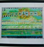"Sparky - original work, framed - approx 42"" x 32"""