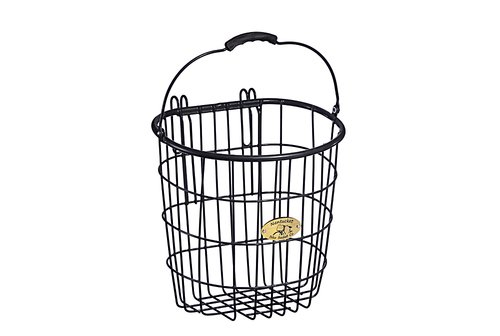 Surfside Rear Wire Pannier Basket - Charcoal Gray
