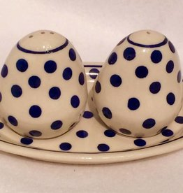Salt & Pepper - White/Blue Dots