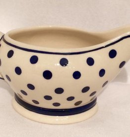 Gravy Boat - White/Blue Dots
