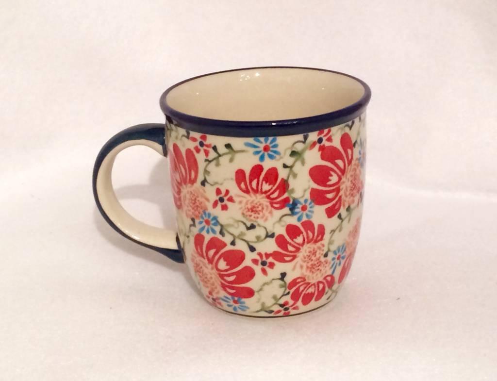 Mug - Light Blue/Red Flowers