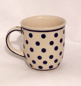 Mug - White w/ Blue Dots