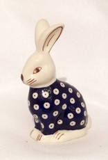 Rabbit - Blue/White Dots
