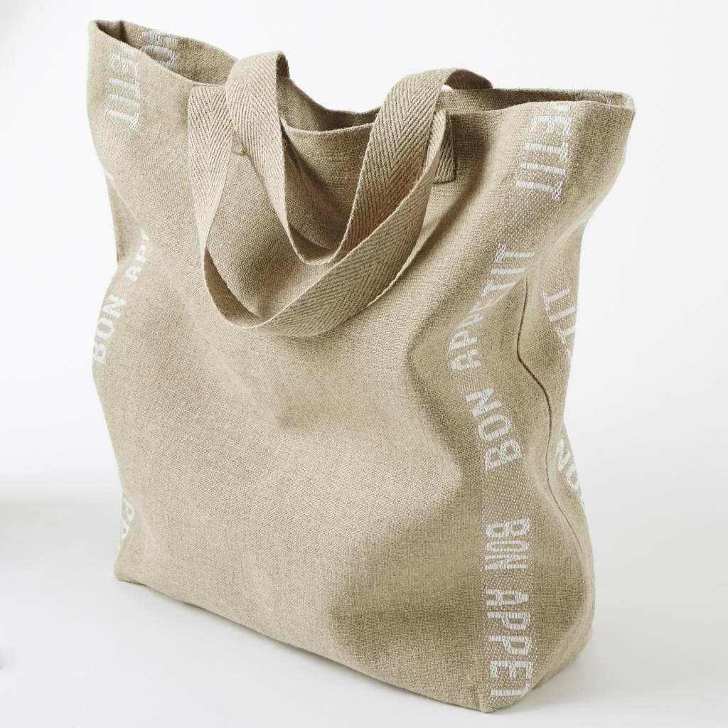 "Charvet Editions - Bag/White Bon Appetit 15""x23"""