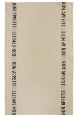 "Charvet Editions - Bistro/Tea Towel Natural & Black Bon Appetit - 18""x30"""