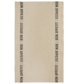 Charvet Editions - Tea Towel/Noir Bon Appetit - 18 x 30