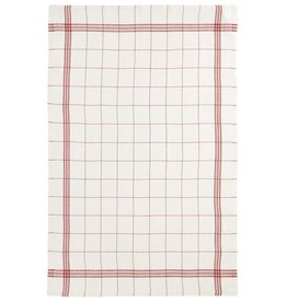 "Charvet Editions - Bistro/Tea Towel Red & White Bistro Lave - 20""x30"""