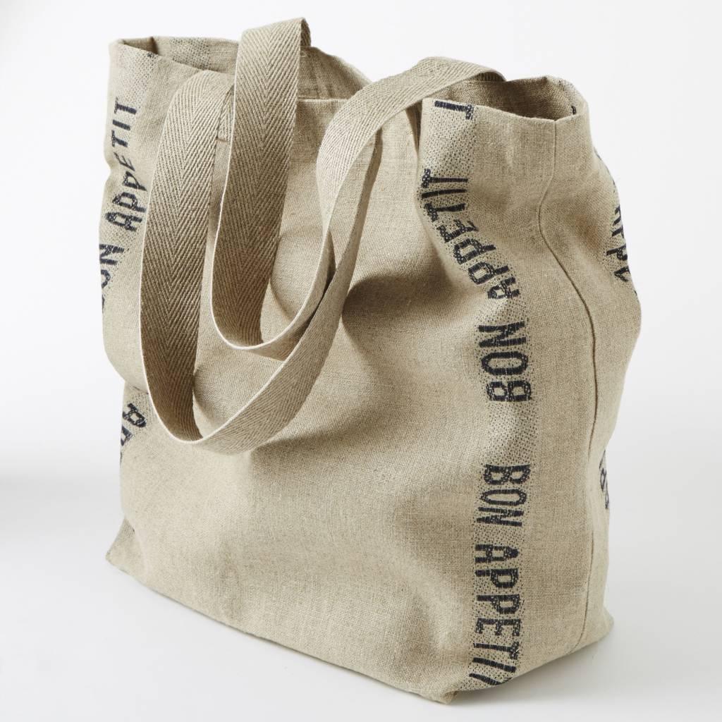 "Charvet Editions - Bag/Natural & Black Bon Appetit 15""x23"""