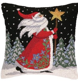 "Pillow - Santa w/Star Staff - 18"" x 18"""