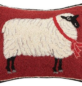 "Pillow - Holiday Sheep - 18"" Oblong"