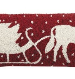 "Pillow - Horse Drawn Sleigh - 9"" x 26"""