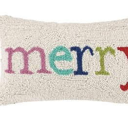 "Pillow  - Merry Multi Xmas - 9"" x 16"""