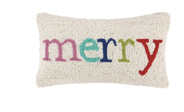 pillow merry multi xmas