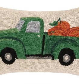 "Pillow - Fall Truck with Pumpkins - 12"" Oblong"