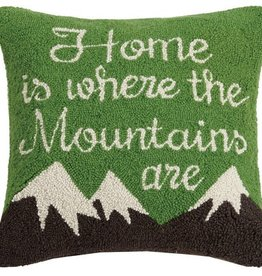 Home is where the mountains are Pillow - 18 x 18