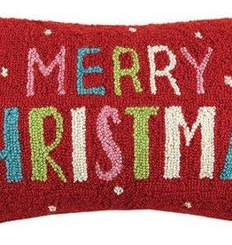 "Pillow -  Multi Merry Christmas 20"" Oblong"