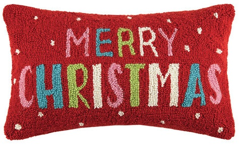 pillow multi merry christmas 20 oblong