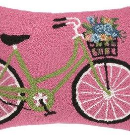 "Pillow - Green Bike w/Flowers - 14"" x 18"""
