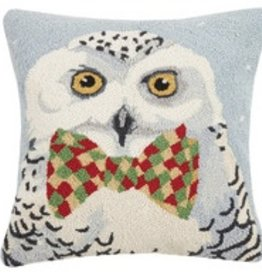 "Pillow - Snowy Owl - 18"" x 18"""