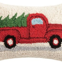 Pillow - Tree on Red Truck 8 x 12