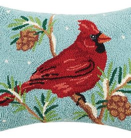 "Pillow - Winter Cardinal -18"" Oblong"