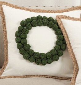 "Pillow - Wreath - 18"" x 18"" Down Filled"