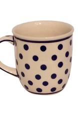 Mug - White w/ Blue Dots